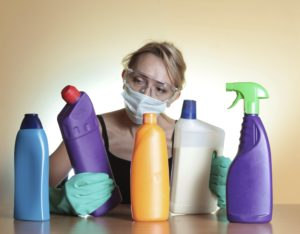 Harmful cleaning chemicals